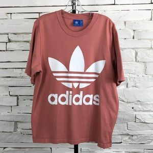Adidas Trefoil Millennial Pink Logo T Shirt 1285